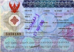 Thajské víza